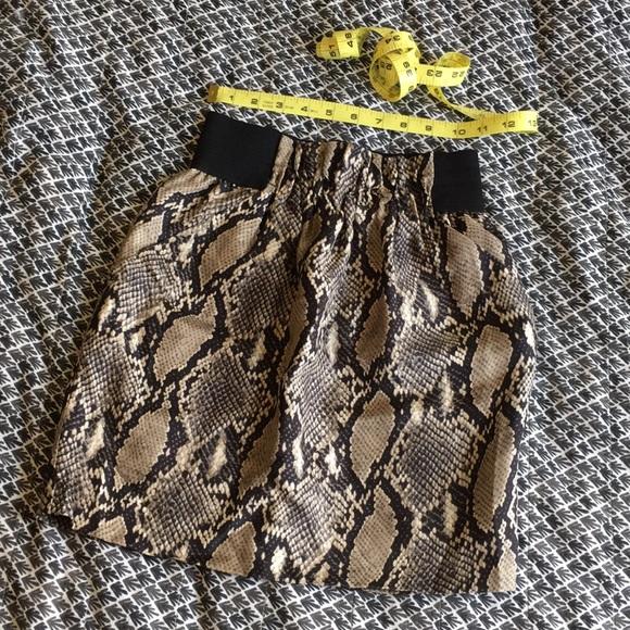 5d0e5563493 Zara Skirts | 100 Silk Snakeskin Mini Skirt Size Xs | Poshmark